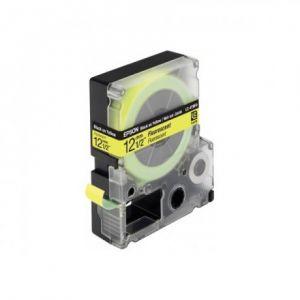 Epson LC-4YBF9 - Bande fluorescente noir sur jaune 1,2 cm x 9 m