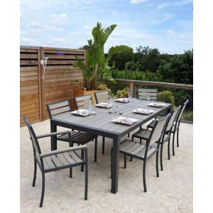 Residence Chaise de jardin Newport en aluminium et bois composite