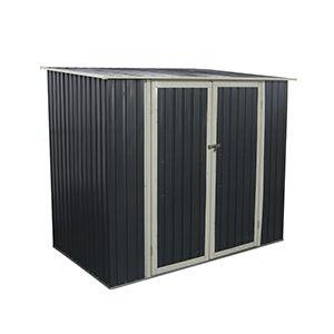 Abri de jardin en métal Joy 3,17 m² Gris Anthracite