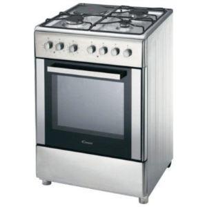 Candy CBCM6-543 - Cuisinière mixte 3 brûleurs gaz avec four électrique