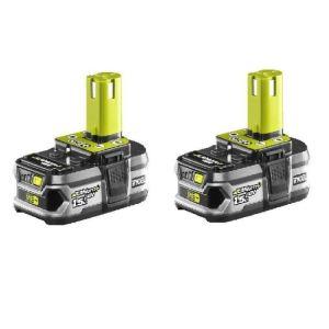 Ryobi 5133001914 - Pack 2 batteries Li-ion 18V 1,5Ah avec chargeur RBC18LL15