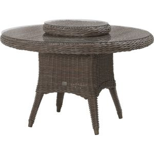 4 Seasons Outdoor Madoera - Table de jardin ronde en résine tressée Wicker Ø130 cm