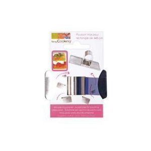 Scrapcooking Poussoir rectangle en inox (4 x 8 cm)