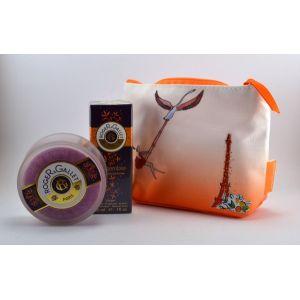 Roger & Gallet Trousse collection Parisienne Gingembre : Eau fraîche parfumée et savon
