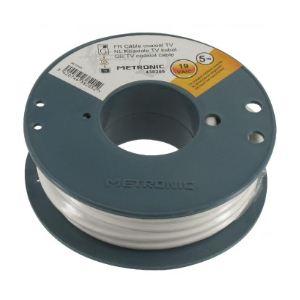 Metronic 438205 - Câble coaxial blanc 5 m
