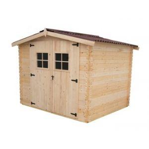 Habrita VD 2622.02 N - Abri de jardin en bois massif certifié 6.30 m² 28 mm