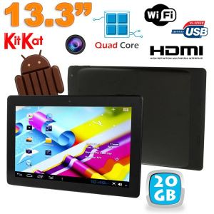 """Yonis Y-tt46g20 - Tablette tactile 13.3"""" sous Android 4.4 (16 Go interne + Micro SD 4 Go)"""