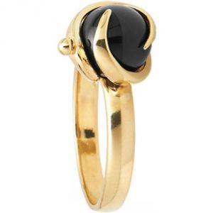 Charles Jourdan BR235ON - Bague en or et onyx pour femme