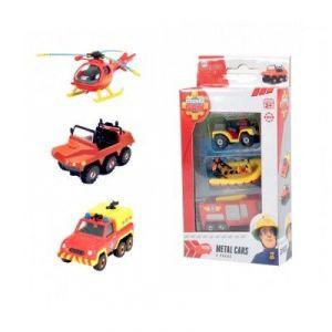 Dickie Toys Hélicoptère, camionnette et Pick-Up Sam Le Pompier