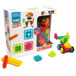 Image de Seek'O Blocks Flash lumineux 75 pièces - Jeu de construction 1er âge