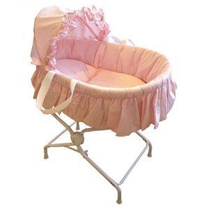Bébé Achat Couffin bébé avec textile et son support métal