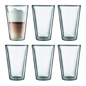 Bodum Canteen - Set de 6 Verres Double Paroi Transparent 0,4 L 20,5 x 30,5 x 15 cm ( 10110-10-12 )