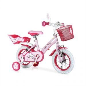 """Partner jouet A1204133 - Vélo fille Hello Kitty 12"""""""