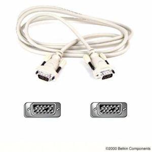 Belkin F2N028R15M - Câble VGA HD-15 (M) vers HD-15 (M) 15 m (Moulé, vis à oreilles, toronné)