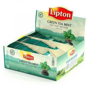 Lipton Boîte de 100 sachets de thé vert menthe