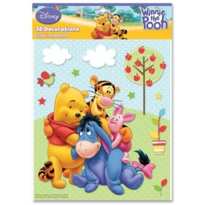 Fun House Stickers en relief et photoluminescents Winnie l'ourson et ses amis