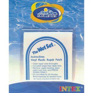 Intex 6 rustines de réparation pour piscine ou jeux gonflables