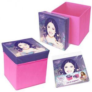 2 poufs de rangement Violetta Disney (31 x 31 x 33 cm)