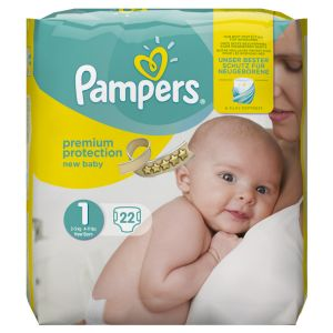 Pampers Premium Protection New Baby taille 1 Newborn 2-5 kg - 22 couches