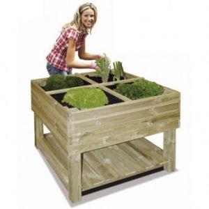 Universo bois Jardin potager sur pieds en bois traité 100 x 100 x 80 cm