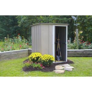 Chalet et Jardin Abri de jardin 1,84m² en métal BW54 beige - Dimensions : 151x122x180cm