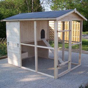 Foresta PO 1624 - Poulailler très grande taille 6-10 poules 4,75 m²