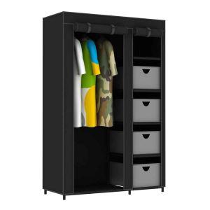 armoire dressing tissu comparer 233 offres. Black Bedroom Furniture Sets. Home Design Ideas
