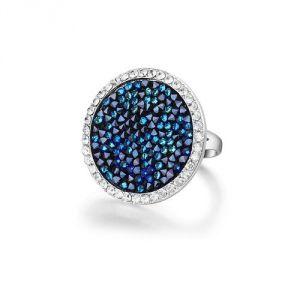Blue Pearls Cry E403 J - Bague en cristal Rock Swarovski et plaqué rhodium pour femme