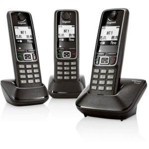 Gigaset A420A Trio - Téléphone sans fil avec répondeur 3 combinés