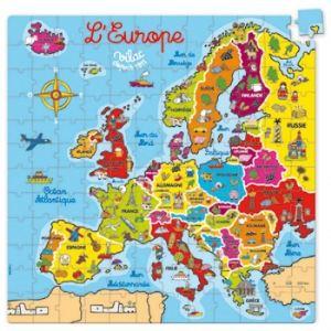 Vilac 2605 - Puzzle carte d'Europe en valise (144 pièces)