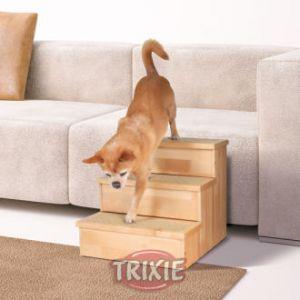 Trixie Escabeau pour chiens en bouleau clair 40 x 38 x 45 cm