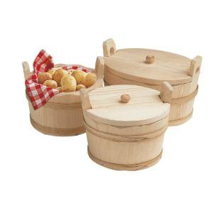 Bron Coucke Seille à pommes de terre en bois