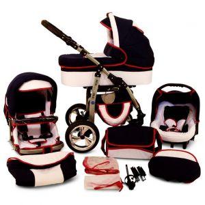 Lux4kids Évolution - Poussette canne combinée 4 en 1 avec siège auto et chancelière