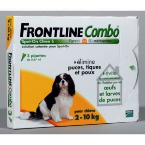Frontline Combo Spot-On Chien S 2-10 kg - Soin antiparasitaire