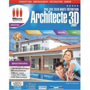 Logiciel d 39 architecture et de decoration emme comparer 6 for Architecte 3d 2010