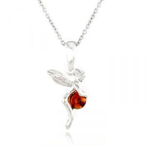 Rêve de diamants COBA02002 - Collier en argent 925/1000 et ambre