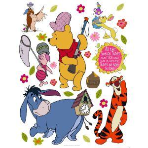 Stickers géant Winnie Chasse Disney