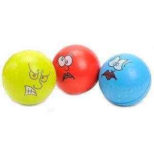 3 balles anti stress 6,5 cm