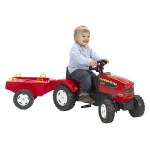 Falk Tracteur à pédales Farm Mustang 680I et remorque