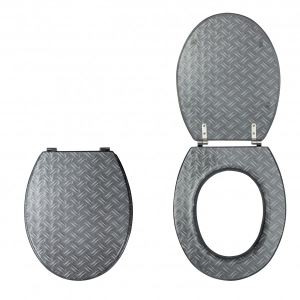 Wirquin 218039 - Abattant WC en résine dessin métal