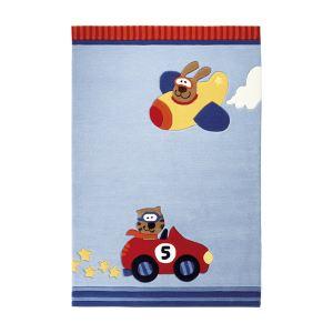 Sigikid Tapis de tapis enfant Happy Street Cars (70 x 140 cm)