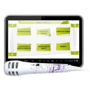 """Ingo INU019D - Tablette tactile 7"""" pour enfants avec micro Karaoké Violetta"""