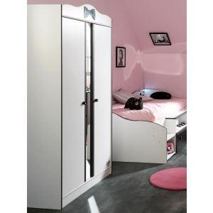 Armoire 2 porte avec miroir central (108 x 189 cm)
