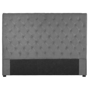 Tête de lit capitonnée en velours (120 x 160 cm)