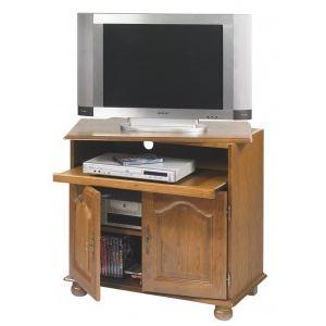 Meuble TV avec 2 portes et plateau pivotant