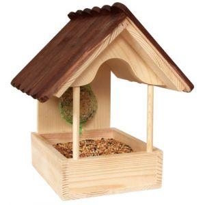 Zolux Azalée - Mangeoire en bois pour oiseaux