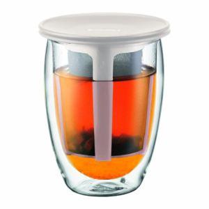 Bodum 11153 - Verre double paroi Tea For One avec filtre en plastique (0,35 L)