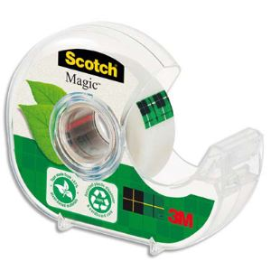 Scotch Rouleaux adhésif Magic 900 invisible avec dévidoir (19 mm x 20 m)