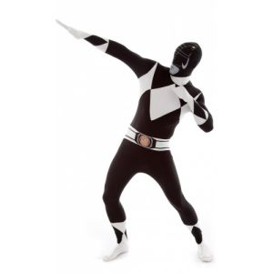 Déguisement Morphsuits Power Rangers noir adulte