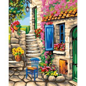 Oz international Peinture au numéro - Maxi : Patio fleuri